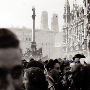 Fasching am Marienplatz 1953