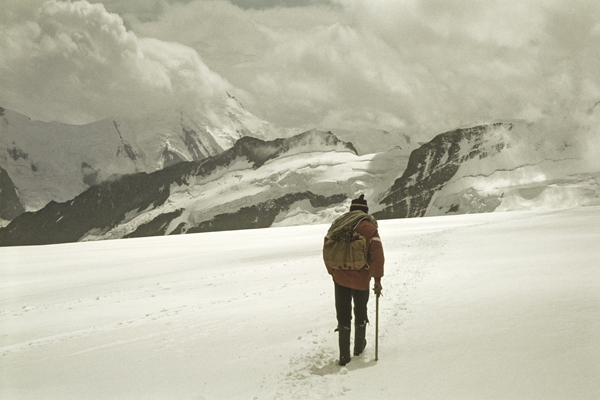 Bergführer auf dem Mönchsjoch, 1979