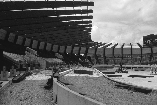Bau des Münchner Olympiaparks, 1971