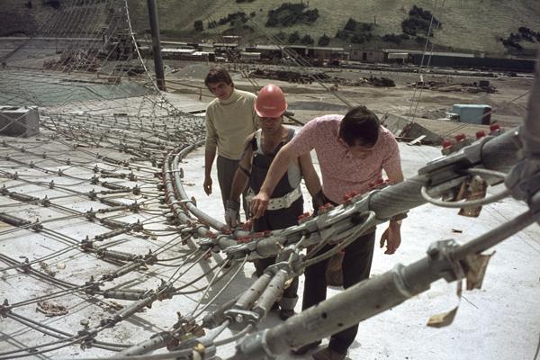 Bau des Münchner Olympiaparks, 1970-1972