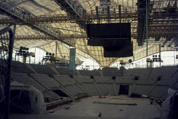 Bau des Münchner Olympiaparks, 1972
