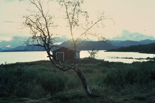Sonnenuntergang am See Kilpisjärvi.