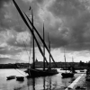 Segelboot im Hafen von Genf