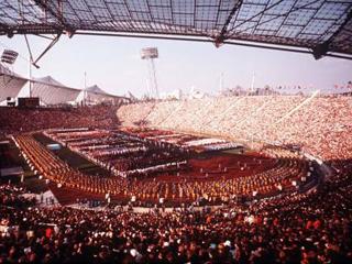 Olympiastadion in München, 1972