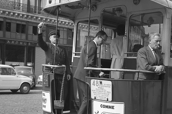 Tram in Paris, 1963