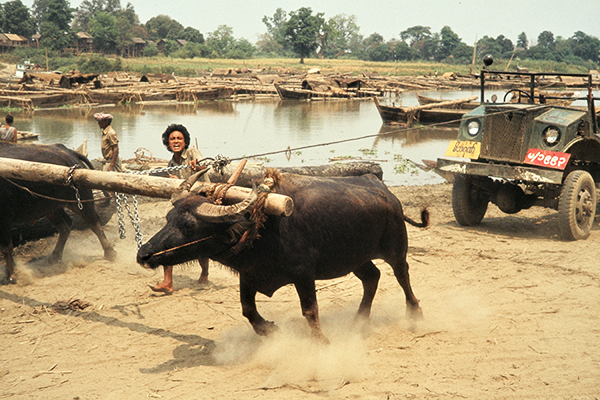 Teakholzhafen in Mandalay, 1985