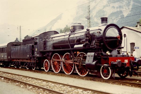Dampflok der Baureihe 685 der Ital. Staatseisenbahn im Bhf. Jenbach/Tirol.