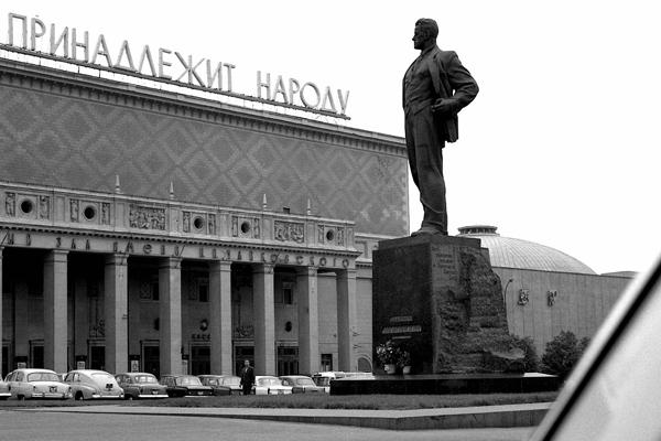 Das Majakowski-Denkmal in Moskau.