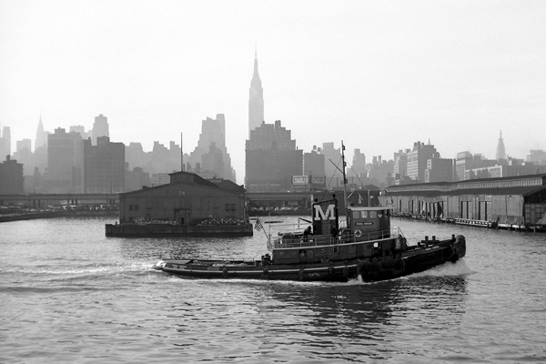 Schlepper auf dem Hudson River in New York.