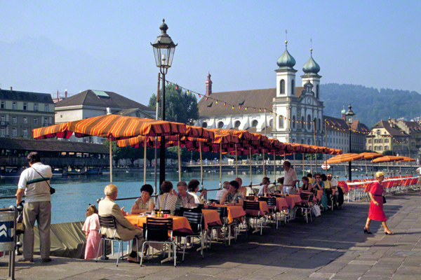 Cafe an der Reuss in Luzern