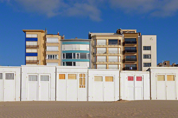 Hotels am Strand in Saint-Idesbald in Belgien (undatierte Aufnahme).