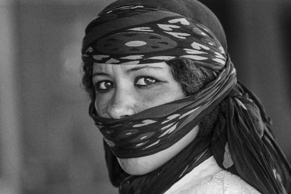 Der stolze Blick einer Beduinenfrau.