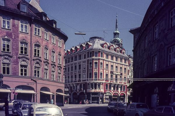 Blick auf den Rindermarkt und die Sendlinger Straße in München.