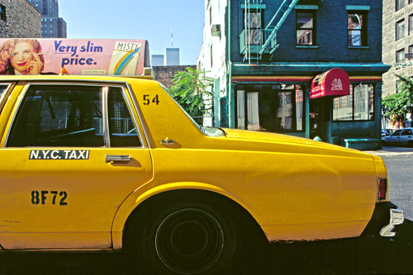 Yellow Cabs in SoHo