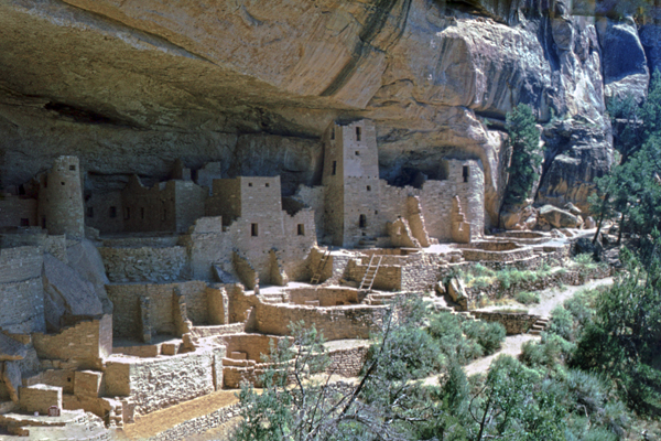 Anasazi Pueblos in Mesa Verde, Colorado, USA.
